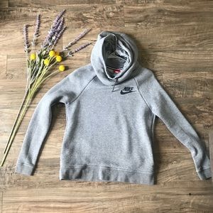 Cowl Neck Hooded Nike Sweatshirt